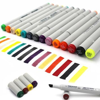 Finecolour Double Head Sketch Marker Color Line Alcohol Based Ink Pens Painting Sketch Art Copic Marker Pen Hook Line Marker