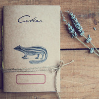 Little Skunk notebook, Eco - friendly Journal, 100% Recycled paper