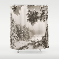 """Snow forest"". At the mountains... Shower Curtain by Guido Montañés"
