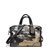 Coach Rhyder 24 Satchel Multicolor Camo Print Metallic Leather