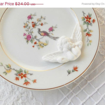 On Sale Haviland Limoges Bird of Paradise Salad Plate, French Limoges, Vintage, Cottage Style, Wedding, Tea Party, Replacement China