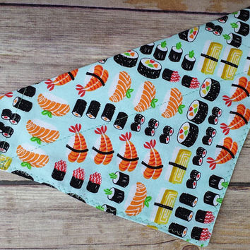 Sushi Dog Bandana / Sushi Cat Bandana / Japanese Dog Bandana / Japan Cat Bandana / Food Dog Bandana / Fish Dog Bandana / Fish Cat Bandana
