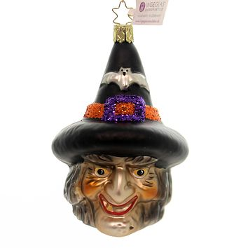 Inge Glas CASTING SPELLS Glass Ornament Halloween Witch 10221S018