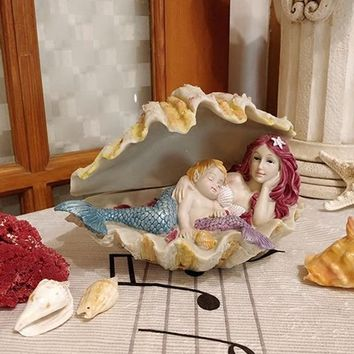 New Cute Mermaid Home decor crafts Animals resin Figurines fairy garden miniatures statue fish tank decor accessories gifts