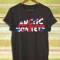 Screenprint funny popular shirt on etsy arctic monkeys flag logo for t shirt mens, t shirt woman available size by RnhKaos