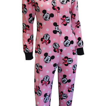 Disney's Minnie Mouse Pink Hooded Onesuit Footie Pajama