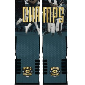NFLPA Strideline World Champs Eagles Celebration FP Crew Socks