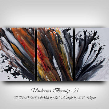 """Painting, 72"""" Original Abstract Painting Modern Fine Art Large Wall Art Contemporary Art on Canvas Luxury Living Room or Office Decor"""