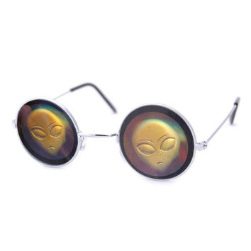 Holographic Alien Sunglasses