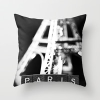 Paris Throw Pillow by Amelia Kay Photography