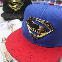 Iron Superman hiphop flat along the baseball cap = 1946716548