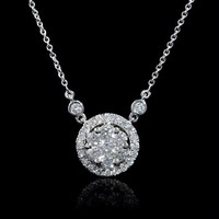.61ct Diamond 18k White Gold Pendant Necklace