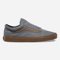Vans Gum Sidestripe Old Skool Shoes Monument  In Sizes
