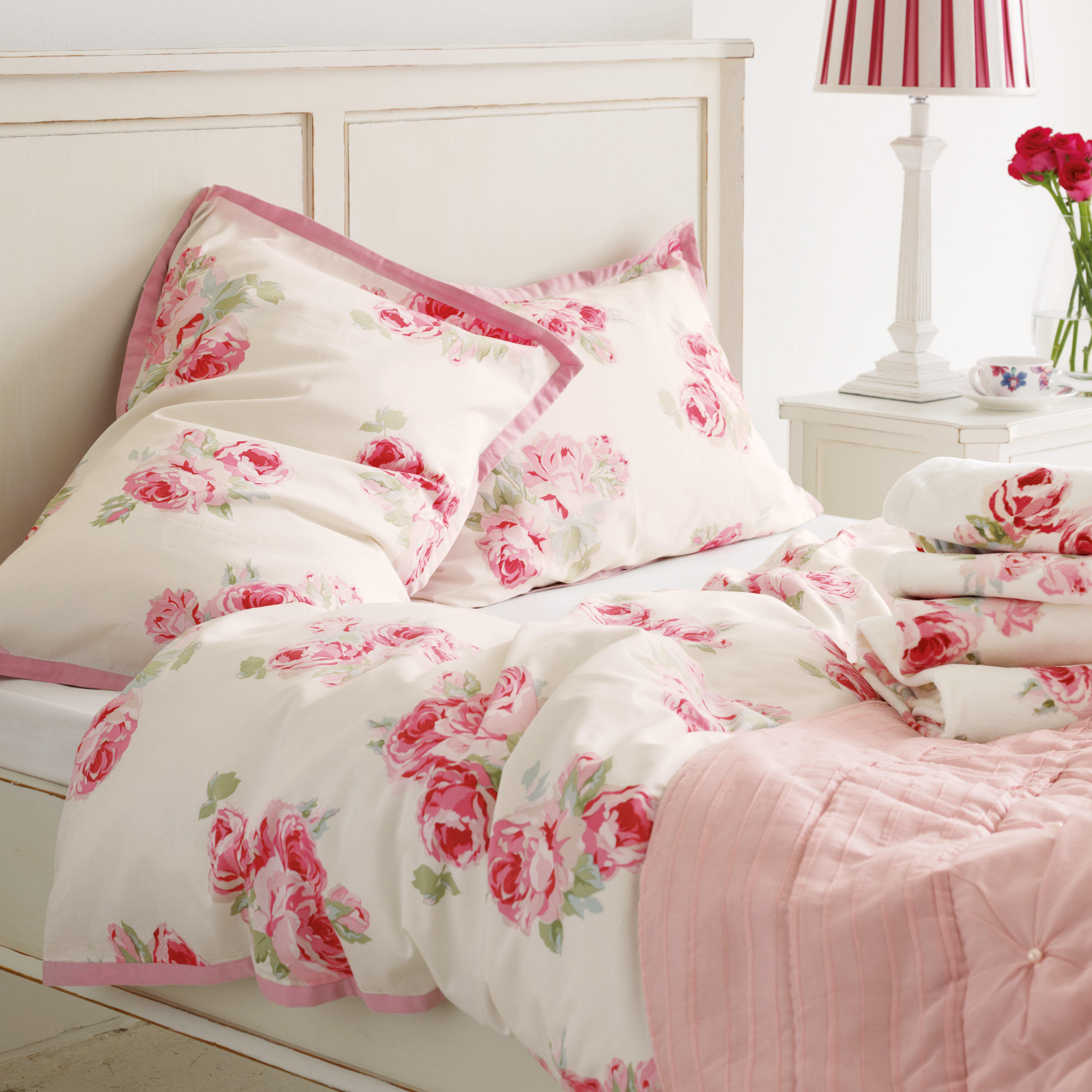 Couture Rose Cotton Bedlinen At Laura From