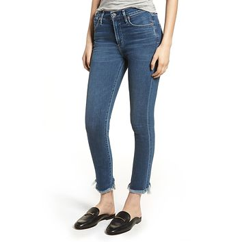 Rocket Crop High Rise Skinny Frequency
