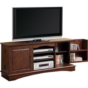 "60"" Media Storage Wood TV Console Traditional Brown"