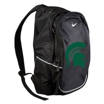 ESBON NCAA Nike Michigan State Spartans Black Multi-Section Backpack