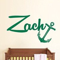 Wall Decals Custom Personalized Name Decal Anchor Vinyl Sticker Boy Bedroom Nursery Baby Room Home Decor Ms437