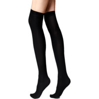 Black Thigh-High Socks