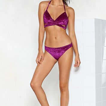 Touch of Sunshine Velvet Bikini Set