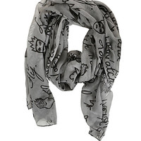 Disney Villains Oblong Scarf
