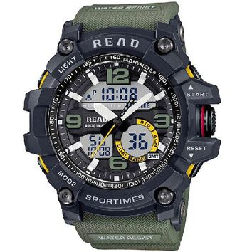 Sport Military Dial Large Digital Scale Analog wrist watches
