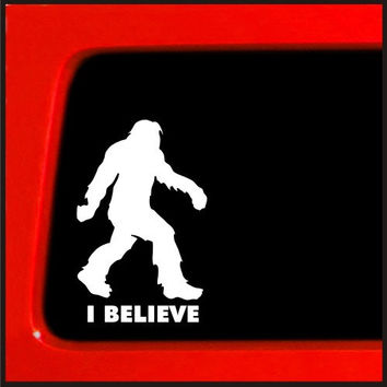 Sasquatch stick figure I Believe bigfoot Vinyl Decal Sticker funny - 292