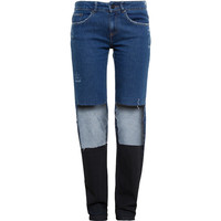 FILLES A PAPA Two-Tone Distressed Jeans