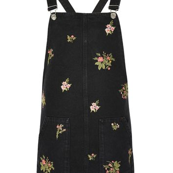 MOTO Floral Pinafore Dress - Clothing