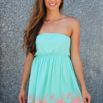 Ocean Coast Strapless Dress