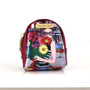 Flower Bouquet Backpack Key Chain