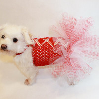 RockinDogs Red and White Nutcracker Christmas Dog Tutu Dress