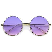 Retro Festival Oversize Round Color Lens Sunglasses A134