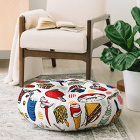 Food Fair Floor Pillow Round Raven Jumpo