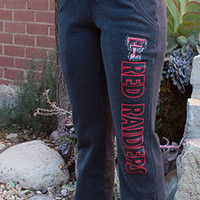 Arena Women's Charcoal Bling Double T over Red Raiders Sweatpants