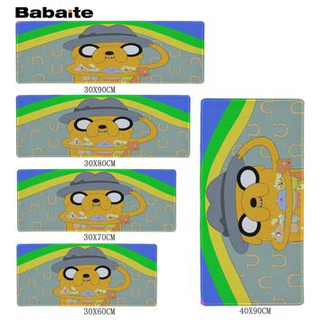 Babaite High quality  Adventure Time Jake Gaming Mouse Pad 900 * 300 * 2mm Locking Edge Mouse Pad Speed version Mouse Pad DOAT