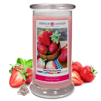 Freshly Picked Strawberries Jewelry Candle