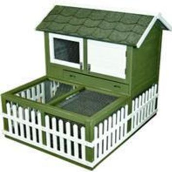 Ware Mfg. Inc. Bird/sm An - Rabbit Ranch Hutch And Pen Combo