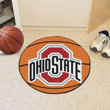"Ohio State Basketball Mat 27"" diameter"