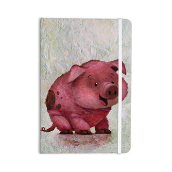 "Rachel Kokko ""This Little Piggy"" Pink White Everything Notebook"