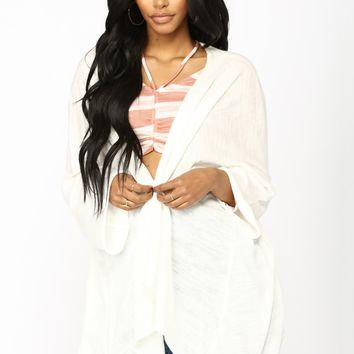 Medley Light Weight Cardigan - Ivory