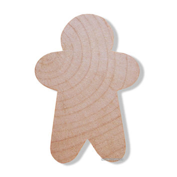 25 Little Unfinished Wood Narrow Style Gingerbread Men Cut-Outs 1 3/4 Inches - Ready to Embellish for Holiday Crafts