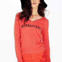ROMANTIC PARTY V-NECK SWEATER