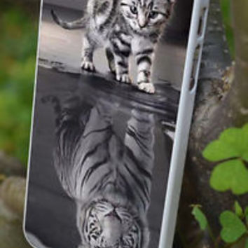 cover,case fits iPhone,iPod 5th models,cat, tiger, reflected in mirror,