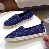 Louis Vuitton Women Fashion Casual Flats Shoes