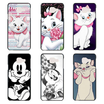 fashion Marie aristocats Mickey & Minnie phone Case for Samsung Galaxy A3 A5 A7 J1 J5 J7 2016 Edition hard black plastic cover