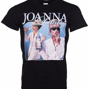 Black Joanna Lumley T-Shirt from Homage Tees