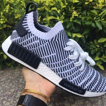 ESBON Best Online Adidas NMD R1 Stlt Spring Summer 2018 Line up Black/White Running Sport Shoes Camouflage Sneakers  Casual Shoes