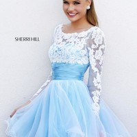 Sherri Hill Short Dress 21234 at Peaches Boutique