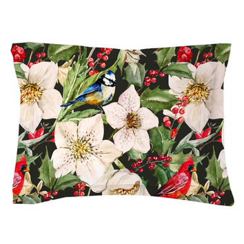 Holly and Hellebores Pillow Shams